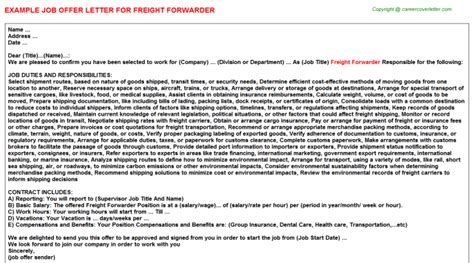 Freight Forwarder Cover Letter Sample - purely-their.gq
